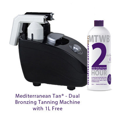 Mediterranean Tan Dual Bronzing Tanning Machine with 1L Free