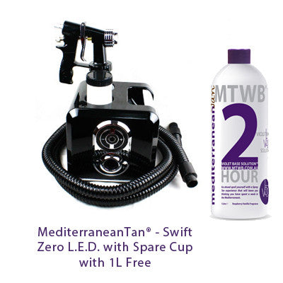 Mediterranean Tan Swift Zero L.E.D. with Spare Cup with 1L Free