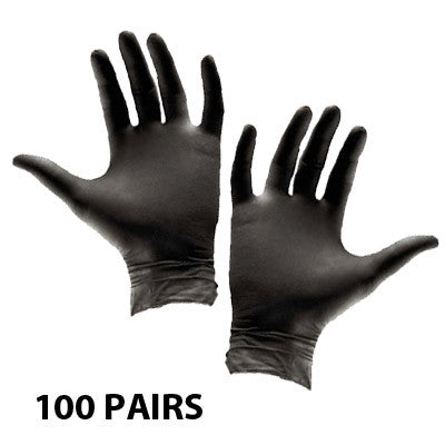 Mediterranean Tan Black Latex Gloves 100 Pairs