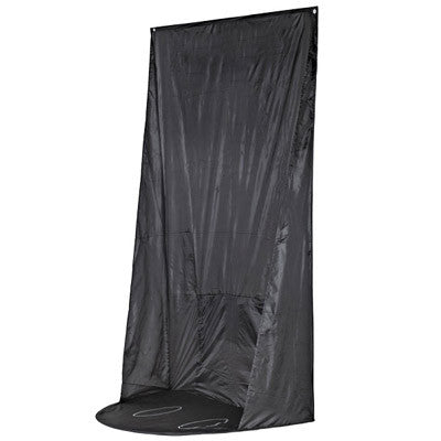 Mediterranean Tan Spray Tan Hanging Curtain with Carry Bag