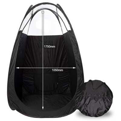 Mediterranean Tan Pop Up Tent with Carry Bag - Black
