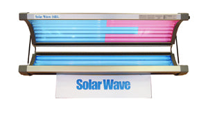Solar Wave 16 RE Tanning Bed with Arm and Face Tanner Lamps - 110V