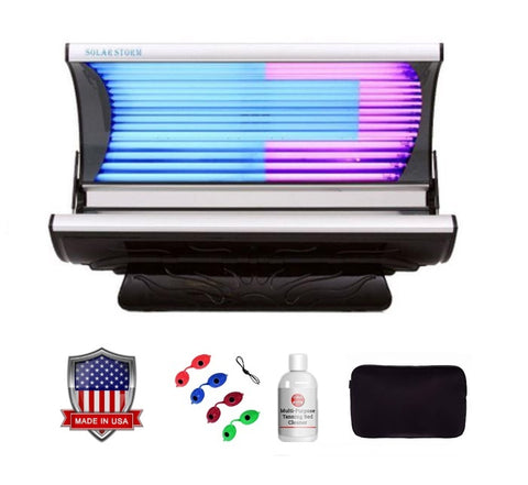 Solar Storm 24S Residential Tanning Bed With Face Tanning - 110v