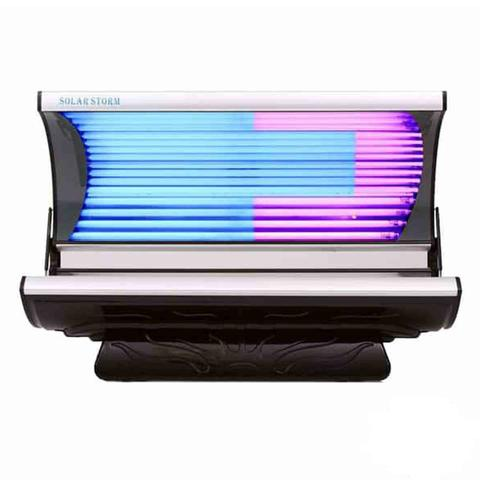 Solar Storm 24C Commercial Tanning Bed In Black With Face Tanning - 220v