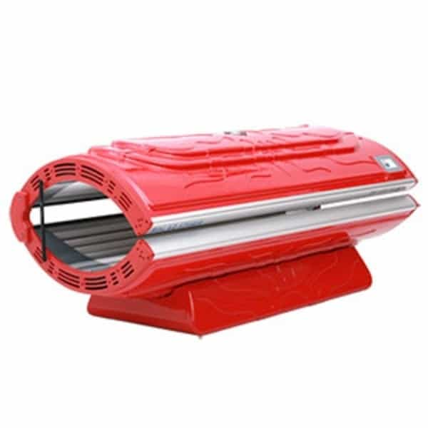 Solar Storm 24S Home Tanning Bed In Red With Face Tanning - 110v