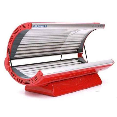 Solar Storm 24C Commercial Tanning Bed In Red With Face Tanning - 220v