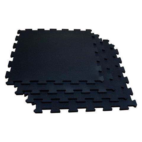 Body Solid RF4PMG 4 Pieces Interlocking Flooring - Black with Gray Specs