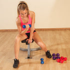 Body Solid BSTNDS110 Neoprene Dumbbell Set 1-10lb