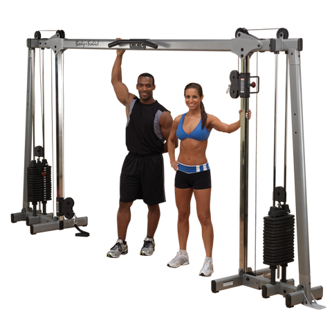 Body Solid Cable Crossover w/Flat Incline Decline Bench & Medicine Ball Package