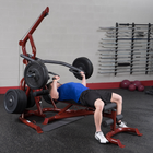 Body-Solid Corner Leverage Gym w/Bench, Preacher Curl Station, Leg Extension and Plate Set Package