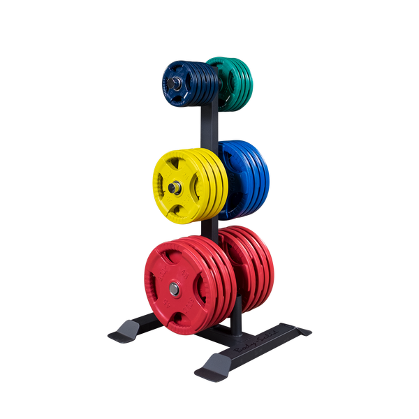Body Solid GWT56 Olympic Plate Tree and Bar Holder