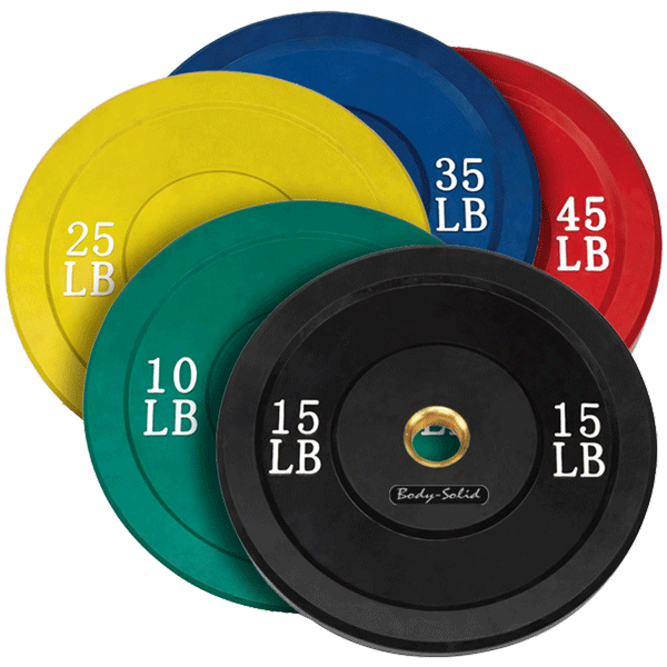 Body Solid ORCOL260 Colored Olympic Rubber Bumper Plates
