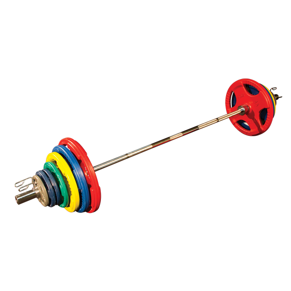 Body Solid ORCT355 Colored Rubber Grip Olympic Plate Set 355lb