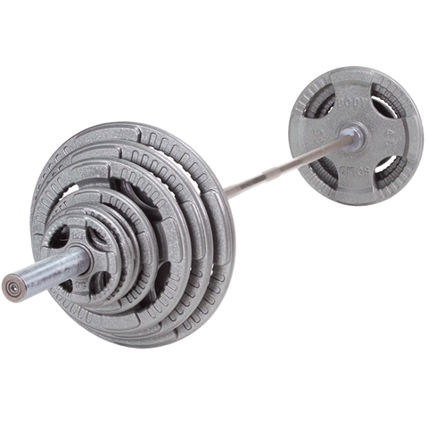 Body Solid OST255 Steel Grip Olympic Set 255lb (Plates Only)