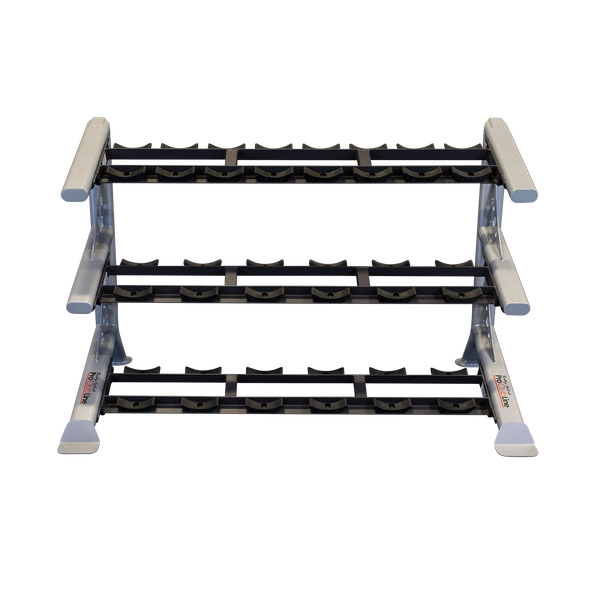 Body Solid SDKR1000SD ProClub Line 3-Tier Saddle Dumbbell Rack