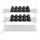 Body Solid SDRS550 Rubber Coated Hex Dumbbell Set 5 to 50 Lb