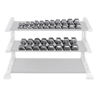 Body Solid SDS650 Hex Dumbbell Set Gray 55-75lb