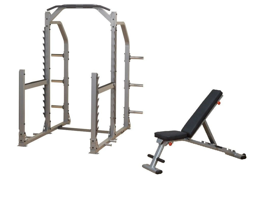 Body-Solid ProClub Line Multi Squat Rack & Folding Multi-Bench Package