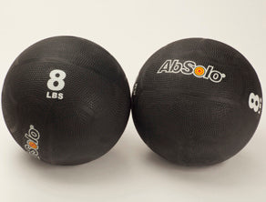 The ABS Company 8 LB Medicine Balls (2) - Black