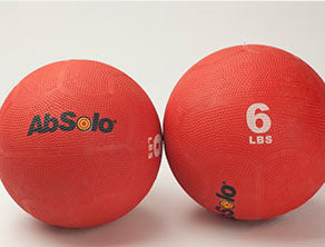 The ABS Company 6 LB Medicine Balls (2) - Red