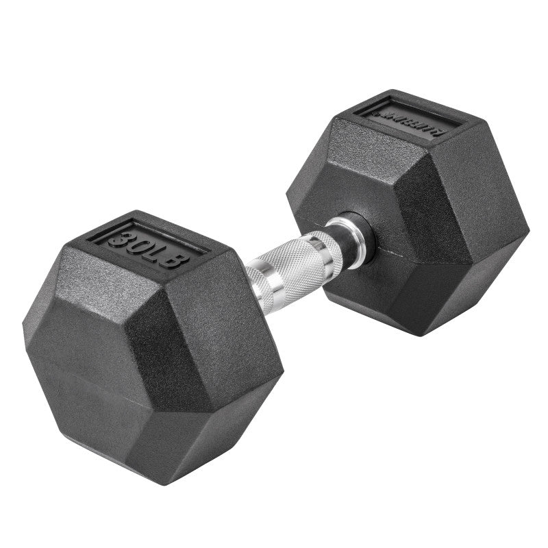 LifeLine 30LB Hex Rubber Dumbbell