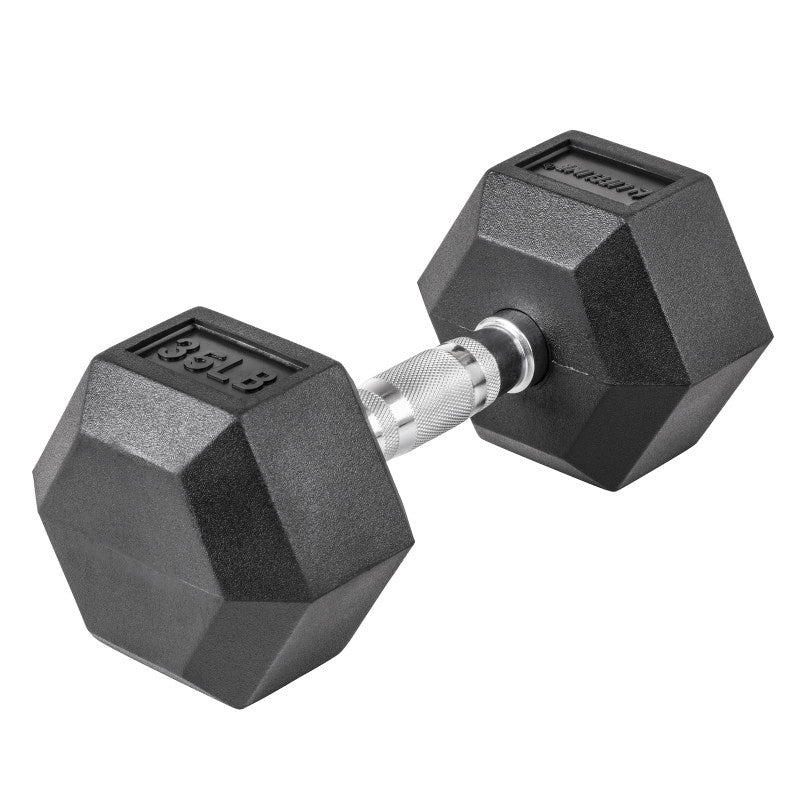 LifeLine 35LB Hex Rubber Dumbbell