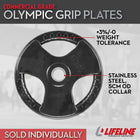 LifeLine 45LB Pro Rubber Olympic Grip Plate