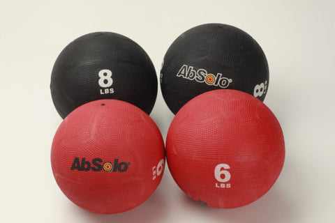 The ABS Company 6 and 8 LB Medicine Ball Set (2 each) - Black/Red