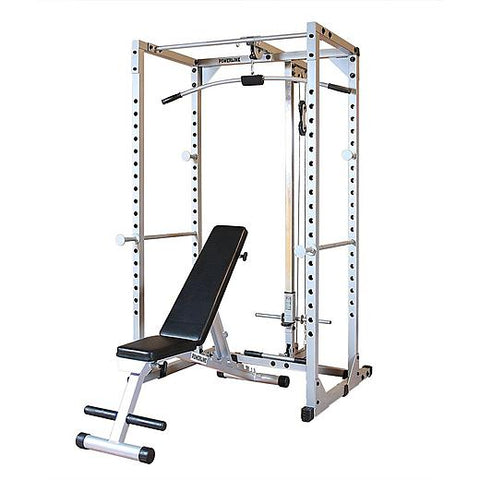 Powerline PPRPACK Power Rack with Bench & Lat Attach Package