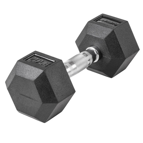 LifeLine 20LB Hex Rubber Dumbbell
