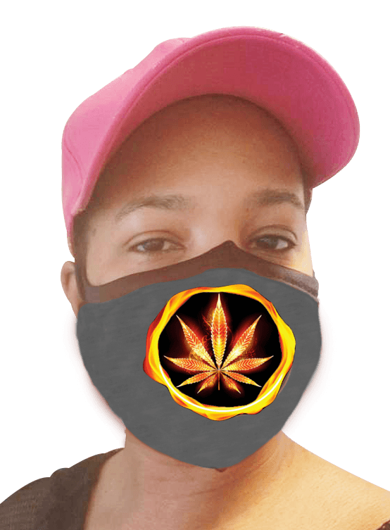 Cannabis On Fire Face Mask - Four Pack