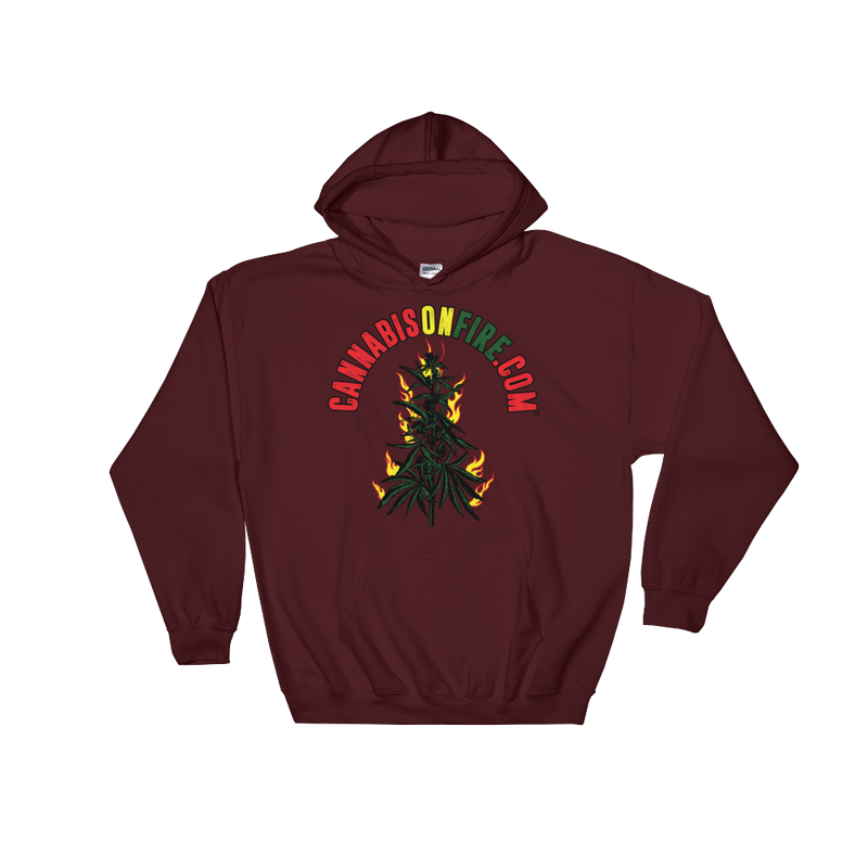 Cannabis On Fire Hoodies
