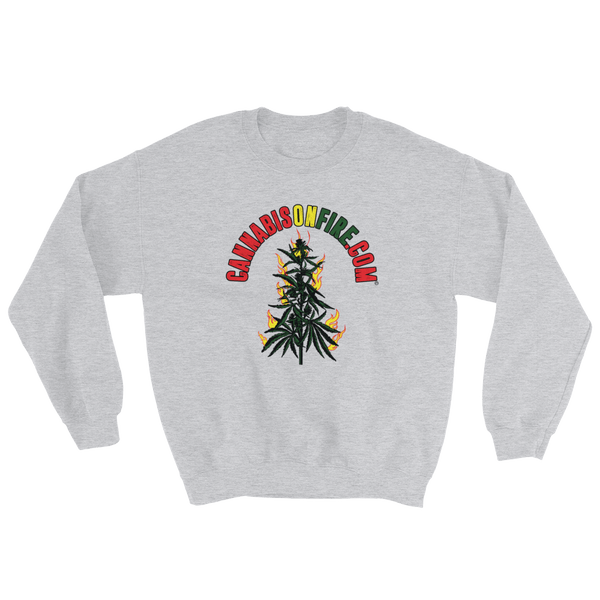 Cannabis On Fire -Sweatshirt
