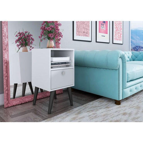 Accentuations by Manhattan Comfort Abisko Stylish Side Table with 1- Cubby and 1-Drawer - Other Tables