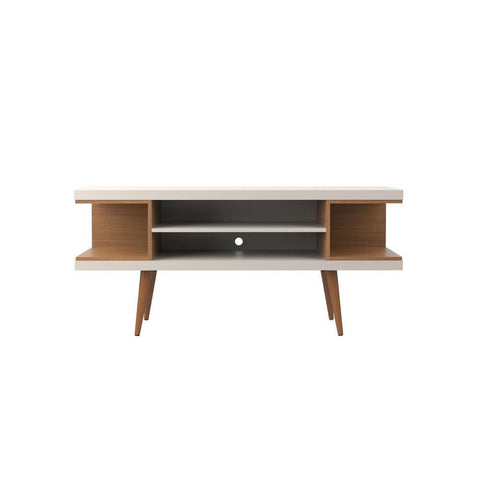 Manhattan Comfort Utopia 53.14 TV Stand with Splayed Wooden Legs and 4 Shelves - TV Stands