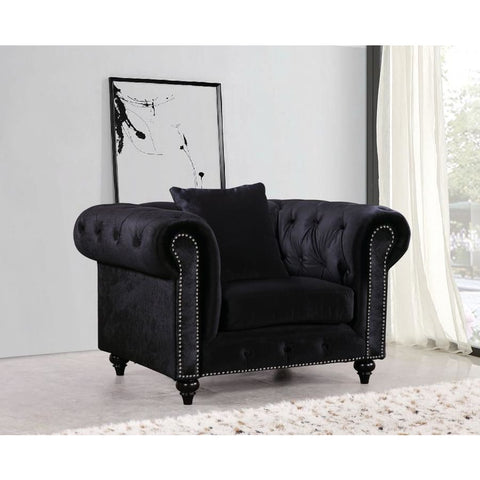 Meridian Furniture Chesterfield Velvet Chair - Chairs