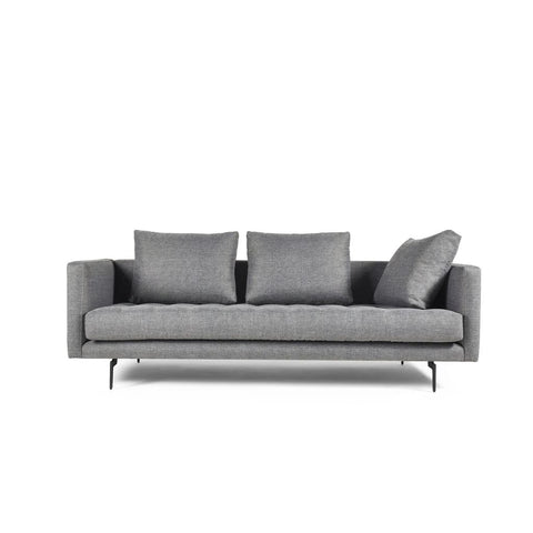 Manhattan Comfort Granville 3-Seat Tweed Sofa - Light Grey - Sofas