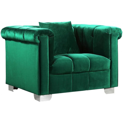 Meridian Furniture Kayla Velvet Chair - Green - Chairs