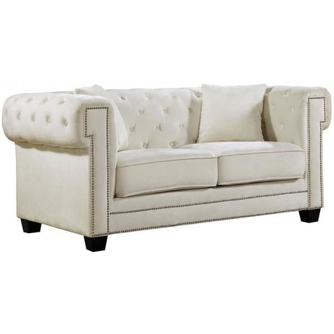 Meridian Furniture Bowery Velvet Loveseat - Loveseats