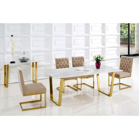 Meridian Furniture Cameron Gold Dining Table - Dining Tables