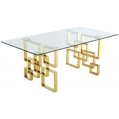 Meridian Furniture Pierre Gold Dining Table - Dining Tables