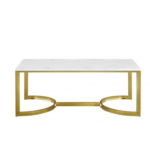 Meridian Furniture London Gold Coffee table - Coffee Tables
