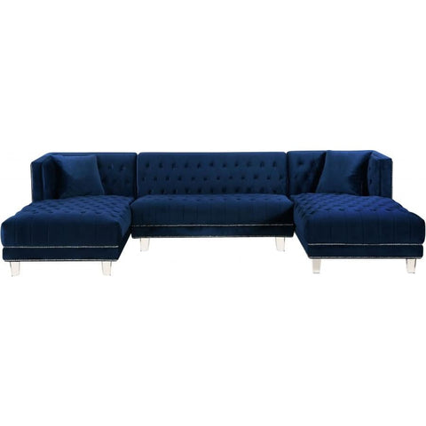 Meridian Furniture Moda Velvet 3pc. Sectional Sofa - Sofas