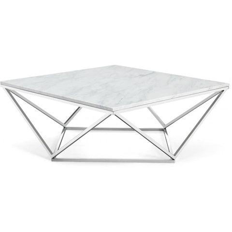 Meridian Furniture Skyler Chrome Coffee table - Coffee Tables