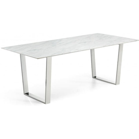 Meridian Furniture Carlton Chrome Dining Table - Dining Tables