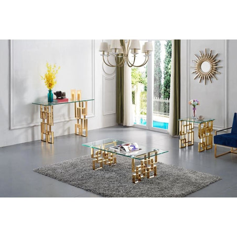 Meridian Furniture Pierre Gold Coffee Table - Coffee Tables
