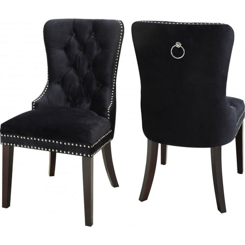 Meridian Furniture Nikki Velvet Dining Chair-Set of 2 - Dining Chairs