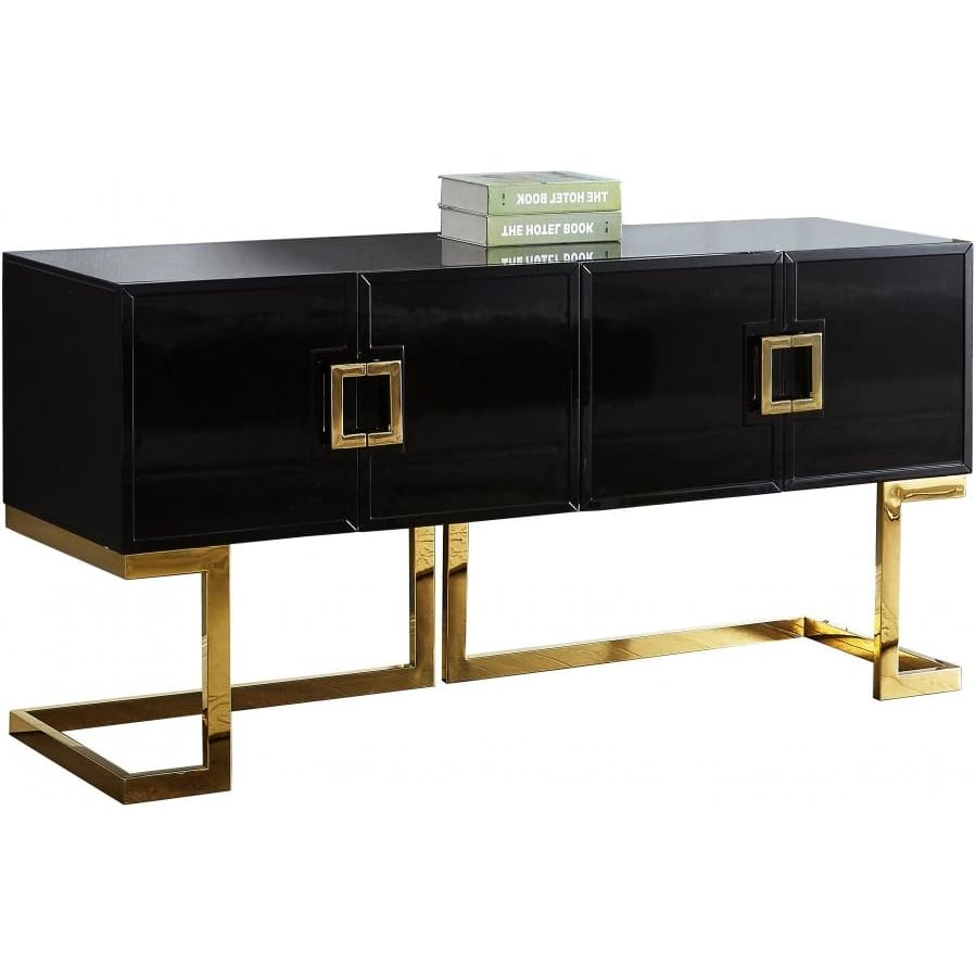 Meridian Furniture Gold Black Beth Buffet/Console Table - Other Tables