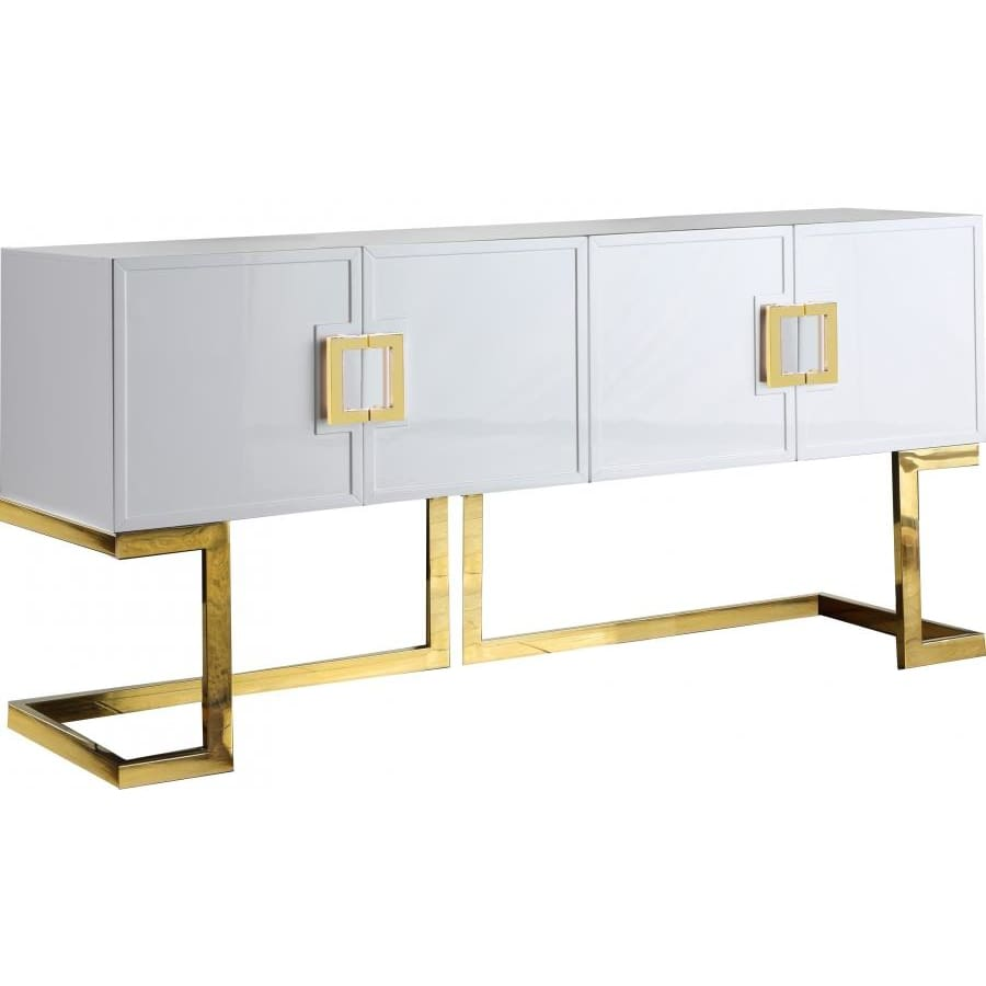Meridian Furniture Gold White Beth Buffet/Console Table - Other Tables