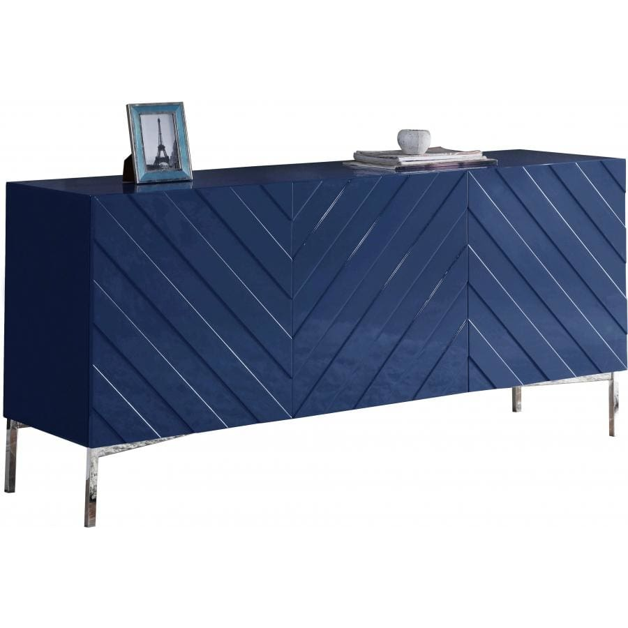 Meridian Furniture Silver Blue Collette Sideboard/Buffet - Storage